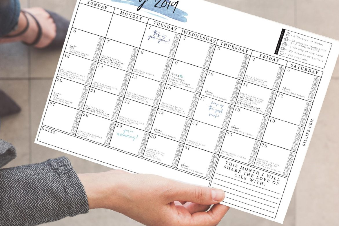 Free Monthly Calendars to Keep You Motivated!